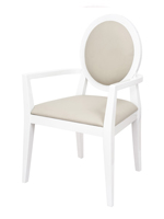 ripoli Modern dining chair in beige with arms