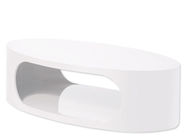 savino modern coffee table in white