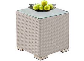 siderno modern outdoor patio side table grey