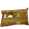 Luxury Lumbar Cowhide Modern Pillow Sand and Gold