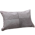 Luxury Lumbar Cowhide Modern Pillow Light-Grey