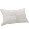 Luxury Lumbar Cowhide Modern Pillow White