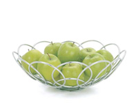 Modern Spiral Fruit Basket accessory available in Miami and Fort Lauderdale