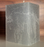 Rustique Square Candle in Platinum
