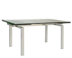 Torino Glass Expandable Modern Dining Table