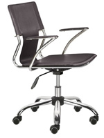 Traffico Modern Office chair in espresso leatherette