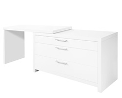 Vercelli Modern Office Desk White Lacquer