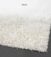 Victoria Modern Shag Rug White