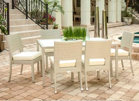 vito modern outdoor patio dining set grey