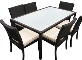 Vito outdoor set, six seater. outdoor furniture