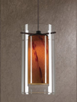 Vivian Modern Ceiling Lamp Amber