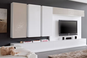 Modern Wall Unit 1 white Lacquer