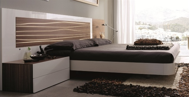 Mh2g Beds Aqua Bed In Walnut White