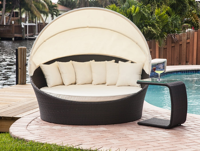 Mh2g outdoor furniture tropea outdoor bed lounger
