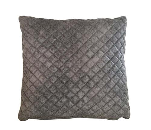 Modern Quilted Pillow : Pillows - Savona quilted grey Modern Pillow- mh2g