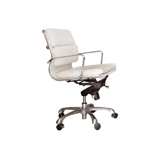 Brindisi Modern Office chair in white leatherette