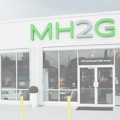 Modern Showroom at MH2G Modern Furniture Store in Miami.