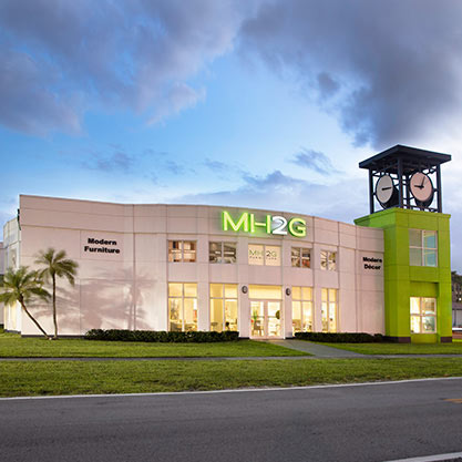 Modern Showroom at MH2G Modern Furniture Store in Doral