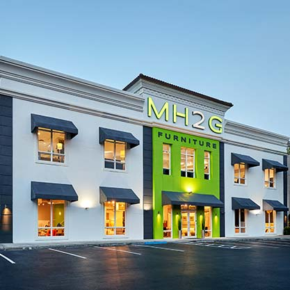 Modern Showroom at MH2G Modern Furniture Store in Fort Lauderdale