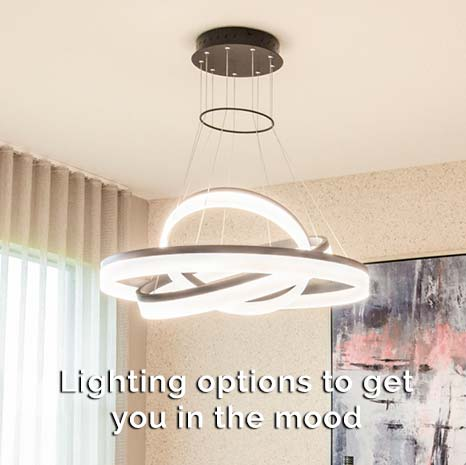 Modern lighting - Lighting options to get you in the mood