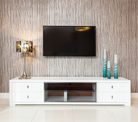 Modern Media Wall and Floor Units at MH2G