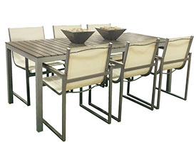 ancapri modern outdoor patio dining set for 8