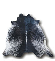 Salt and Pepper Modern Cowhide Rug Black