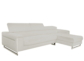 Carone modern sofa sectional In grey leather