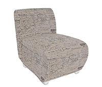 Harmony Modern Lounge Chair in printed fabric