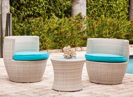 favara modern outdoor patio lounging set grey