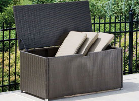 modern outdoor patio storage box espresso