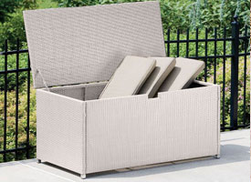 modern outdoor patio storage box grey
