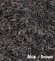 Alandi Modern Shag Rug Blue/Brown