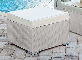 alatri modern outdoor patio ottoman grey