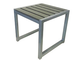 anacapri modern outdoor patio side table grey