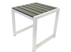 Anacapri Modern Outdoor Patio Set White Aluminum Side Table