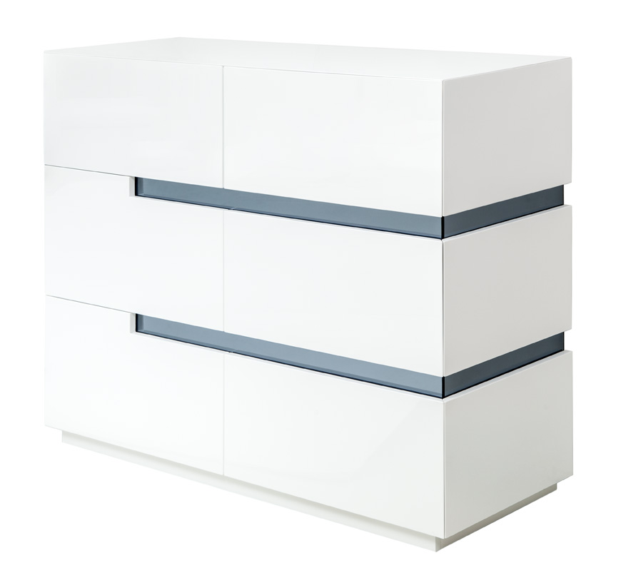 ancio modern desk dresser white