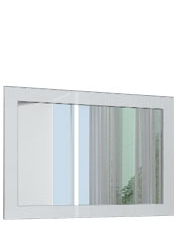 Annecy Modern Square Mirror Silver