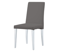 Anzio grey leatherette dining chair