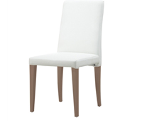 Anzio white leatherette dining chair