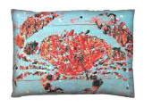 Blue Crab Modern Outdoor Patio Pillow