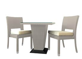 bogati modern outdoor patio dining set grey