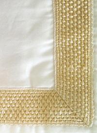Braided Modern Bedding Ivory