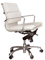 Brindisi office chair in white leatherette