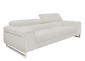 Carone modern sofa Light-Grey Leather