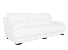papoli modern sofa white Leather