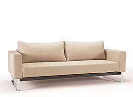 Cassius Modern Sofa bed Sleek Excess in Natural Fabric