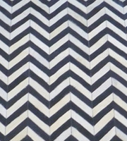 Chevron Modern Cowhide Rug Black/White Small