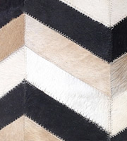 Chevron Modern Cowhide Rug Tricolor medium