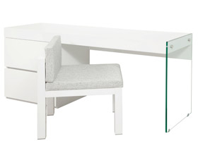 Lucca Modern Office Desk in White